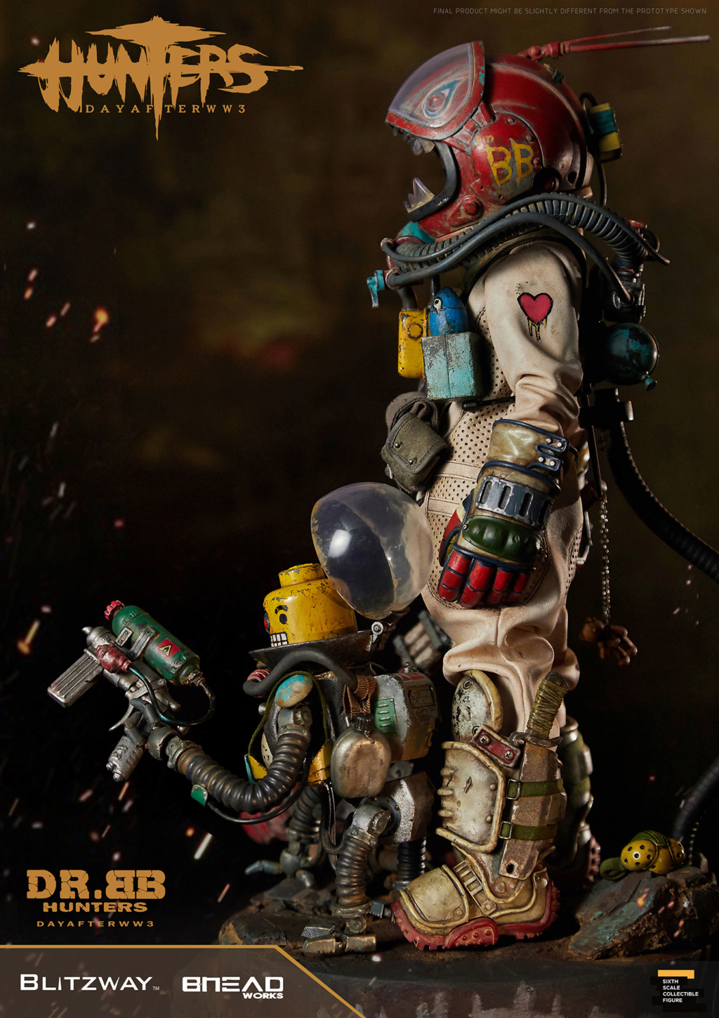 Robot - NEW PRODUCT: Blitzway: 1/6 scale HUNTERS : Day After WWlll: Dr.BB Action Figure 6302