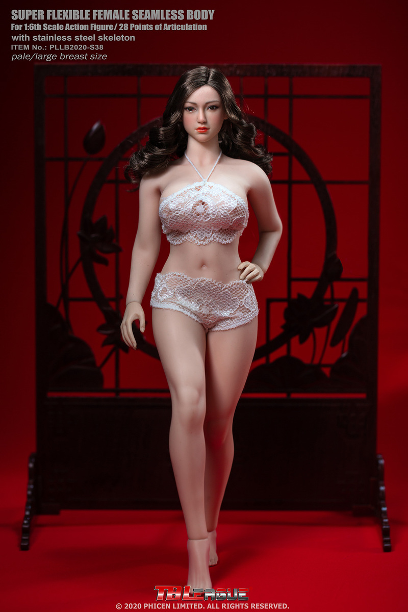 "body - NEW PRODUCT: TBLeague: 1/6 scale ""Chubby"" Female Body (2 styles, with or without a head sculpt) 6304"