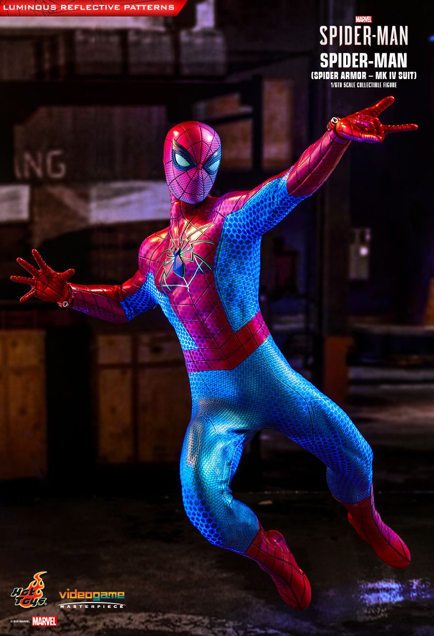 videogame - NEW PRODUCT: HOT TOYS: SPIDER-MAN (SPIDER ARMOR - MK IV SUIT) MARVEL'S SPIDER-MAN 1/6TH SCALE COLLECTIBLE FIGURE 6335