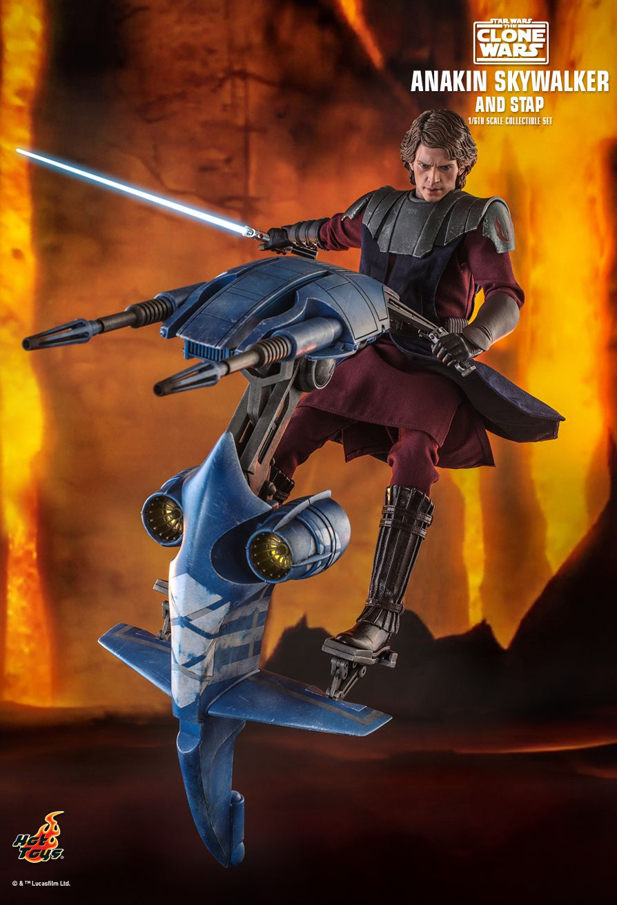 Sci-Fi - NEW PRODUCT: HOT TOYS: STAR WARS: THE CLONE WARS ANAKIN SKYWALKER AND STAP 1/6TH SCALE COLLECTIBLE SET 6343