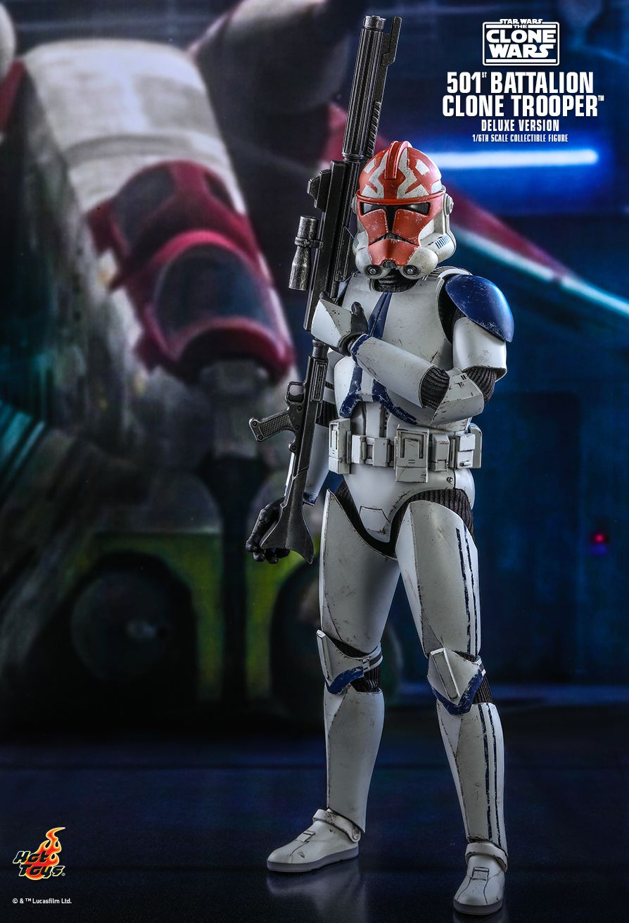 hottoys - NEW PRODUCT: HOT TOYS: STAR WARS: THE CLONE WARS™ 501ST BATTALION CLONE TROOPER™ (DELUXE VERSION) 1/6TH SCALE COLLECTIBLE FIGURE 6357