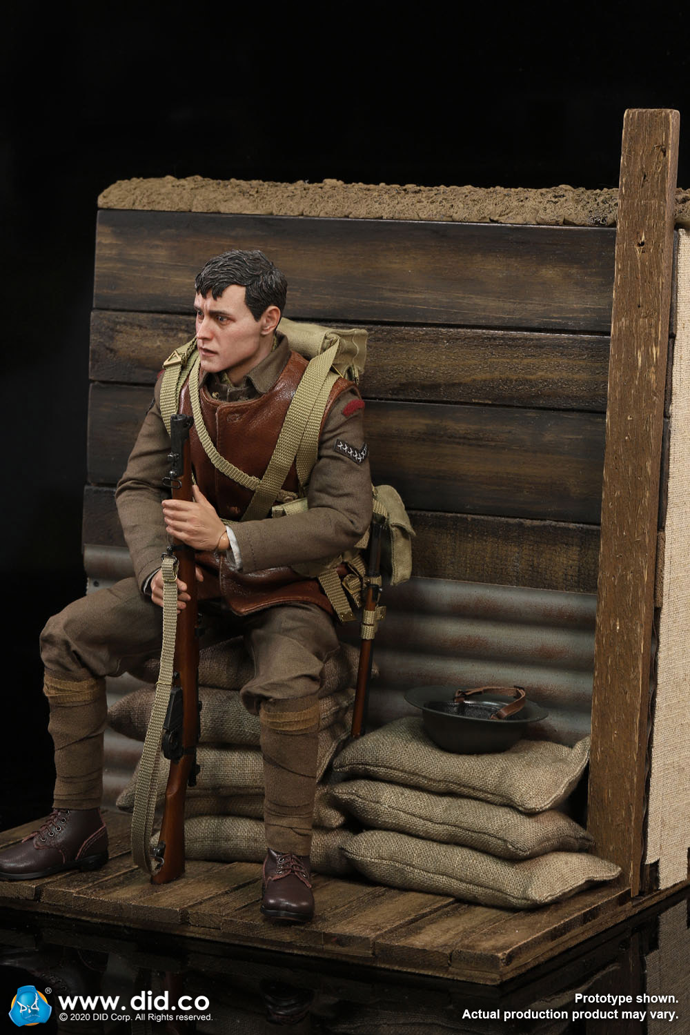 military - NEW PRODUCT: DiD: B11011 WWI British Infantry Lance Corporal William & Trench Diorama Set (UPDATED INFORMATION) 6362