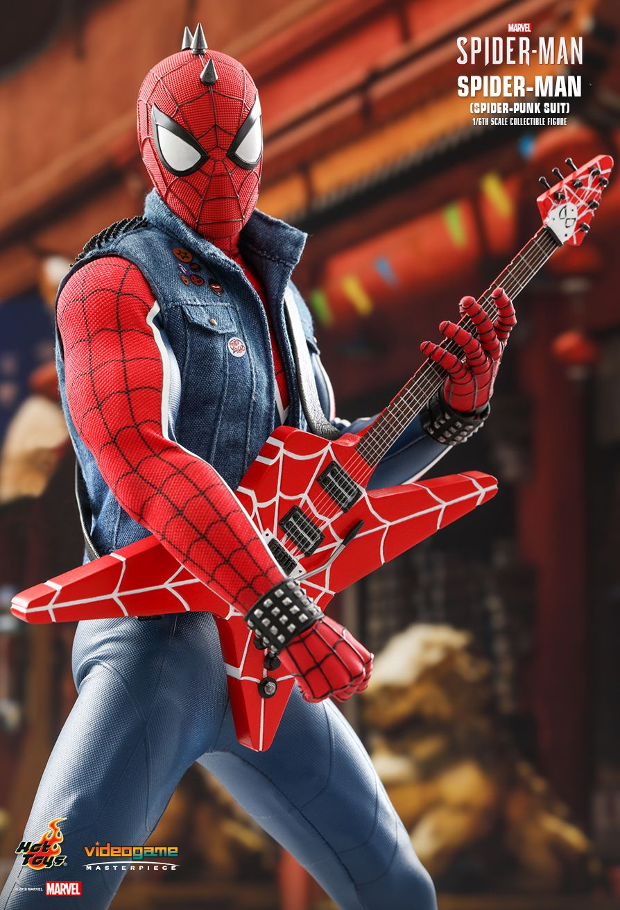 Spider-Punk - NEW PRODUCT: Hot Toys: MARVEL'S SPIDER-MAN SPIDER-MAN (SPIDER-PUNK SUIT) 1/6TH SCALE COLLECTIBLE FIGURE 637