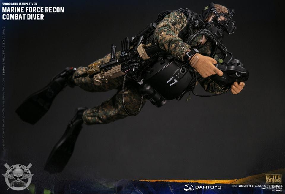 DamToys - NEW PRODUCT: DAM Toys: Marine Force Recon Combat Diver (Desert MARPAT) (GIDAM-78056) & (Woodland MARPAT) (GIDAM-78055) 651