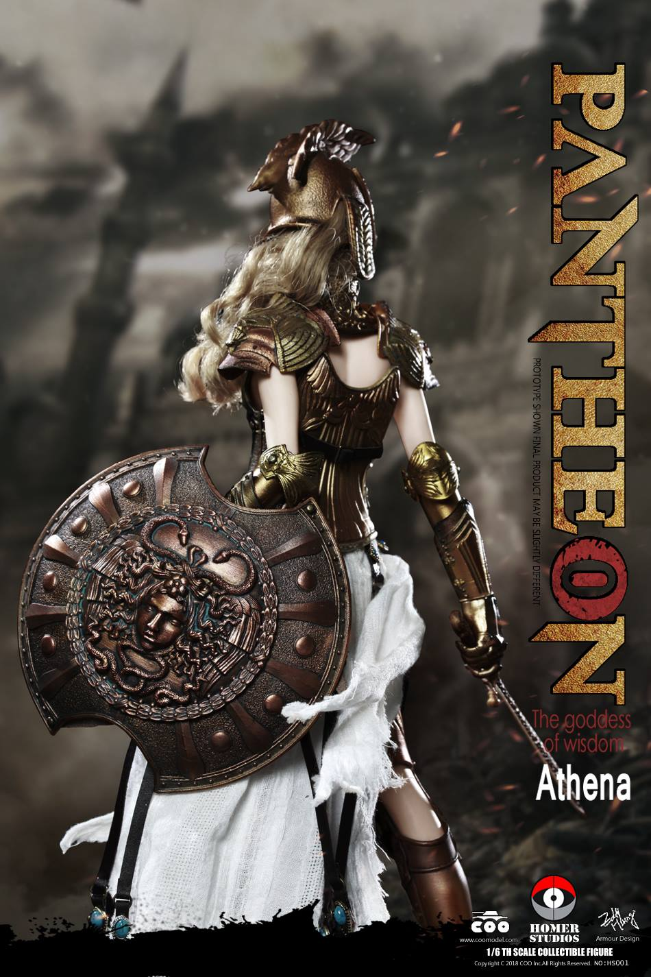 "NEW PRODUCT: COO MODEL X HOMER 1/6th scale PANTHEON Athena Goddess of War 12"" Collectible Figure 667"