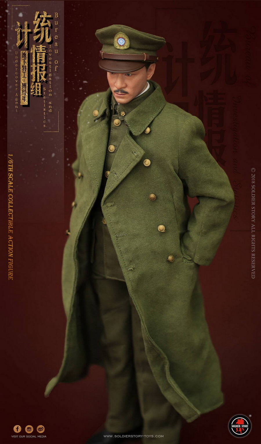 SoldierStory - NEW PRODUCT: SoldierStory new product: 1/6 World War II statistical intelligence group underground agent Fu Jingian - Shanghai 1942 (SS113#) 692