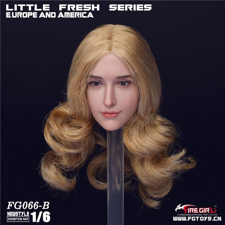NEW PRODUCT: 1/6 Scale Fire Girl Toys FG066 Sweetheart Female Head Sculpt H#pale (3 versions) 697