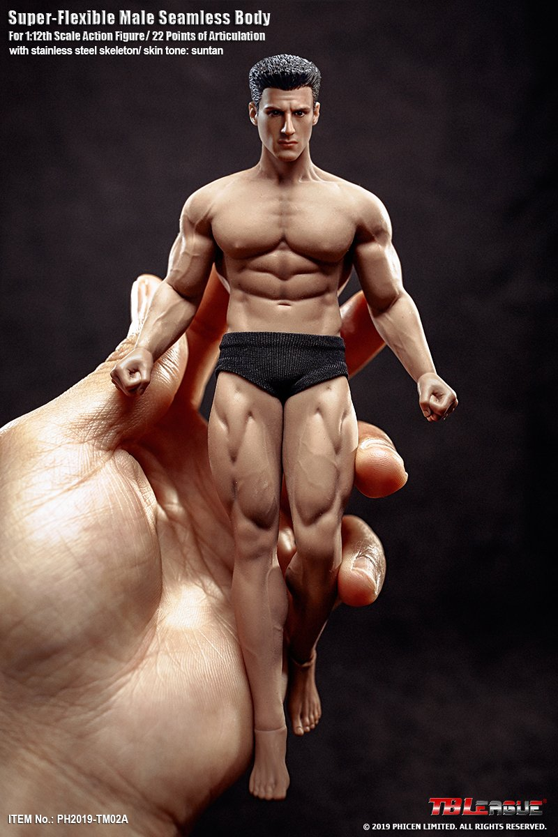 TBLeague - NEW PRODUCT: TBLeague: 1/12 Male Body PH2019-TM01A B 6IN Action Figure F SHFiguart #Suntan 6ba99410