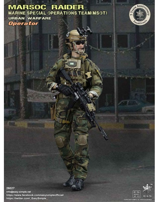 NEW PRODUCT: Easy & Simple 26027 1/6 Scale MARSOC Raider Urban Warfare Operator 7-528x10