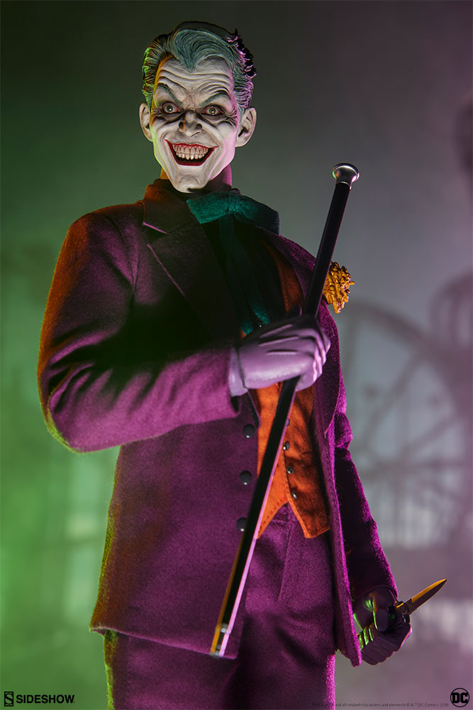 batman - NEW PRODUCT: SIDESHOW COLLECTIBLES: The Joker Sixth Scale Figure (Exclusive Laughing Head Sculpt) 7106