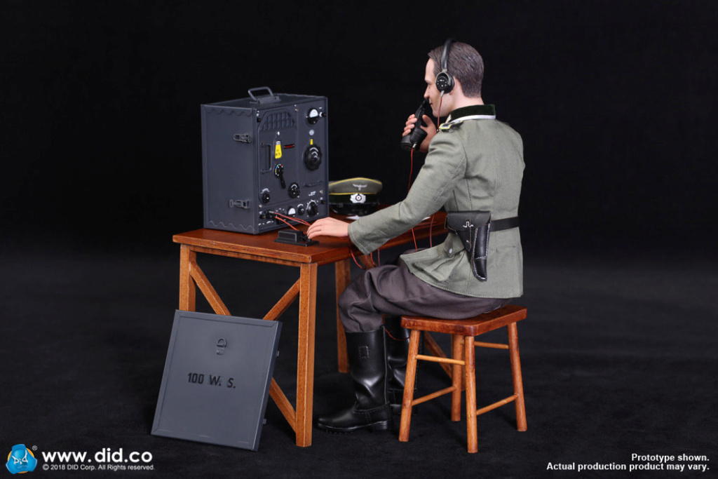 DiD - NEW PRODUCT: Gerd - WH Radio Operator - WWII German Communications Series 3 - DiD 1/6 Scale Figure 7113