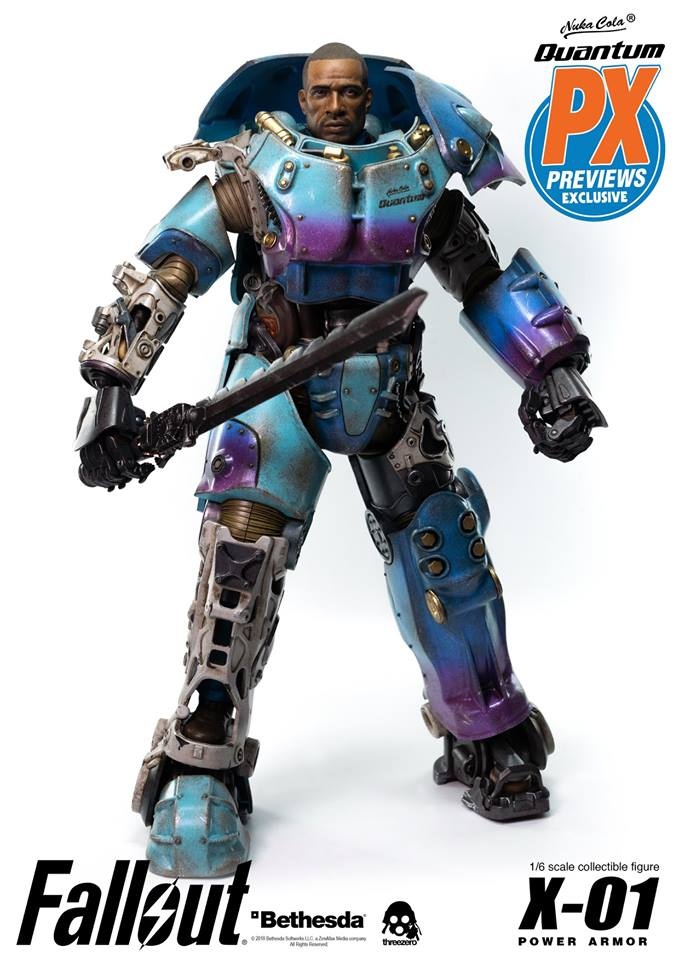"Fallout - NEW PRODUCT: Three Zero Exclusive 1/6th scale X-01 ""Quantum"" Power Armor 14.5-inch Figure Set 7118"