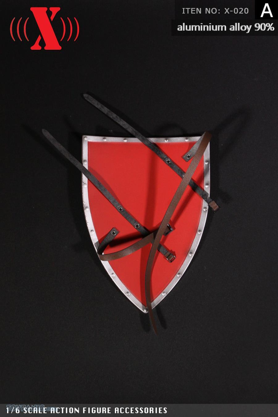 Shield - NEW PRODUCT: X TOYS: Medieval Weapons: Alloy Spear (Lance) (2 styles) & Aluminum Alloy Shield (4 styles) 7168