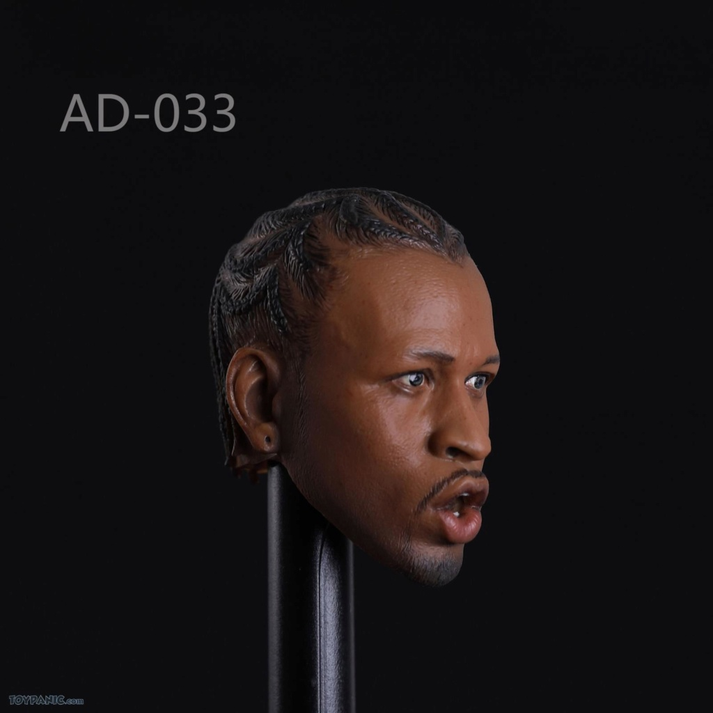 basketball - NEW PRODUCT: Advance Toys: 1/6 Iverson Headsculpt Open Mouth (AD-033A) & Normal Iverson Headsculpt (AD-033B) 718
