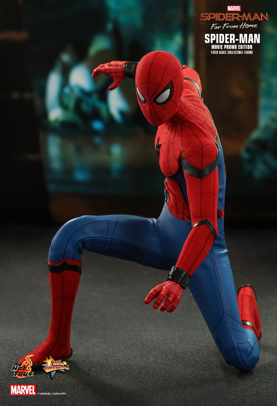 NEW PRODUCT: HOT TOYS: SPIDER-MAN: FAR FROM HOME SPIDER-MAN (MOVIE PROMO EDITION) 1/6TH SCALE COLLECTIBLE FIGURE 7195