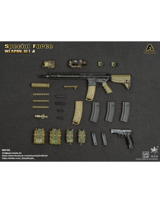 NEW PRODUCT: Easy&Simple: 06018 1/6 Scale PMC Weapon Set in 3 Styles & 06019 1/6 Scale Doom's Day Weapon Set in 3 Styles 7213