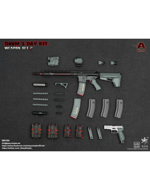 NEW PRODUCT: Easy&Simple: 06018 1/6 Scale PMC Weapon Set in 3 Styles & 06019 1/6 Scale Doom's Day Weapon Set in 3 Styles 7214