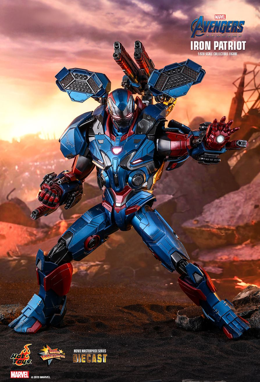 Endgame - NEW PRODUCT: HOT TOYS: AVENGERS: ENDGAME IRON PATRIOT 1/6TH SCALE COLLECTIBLE FIGURE 7225