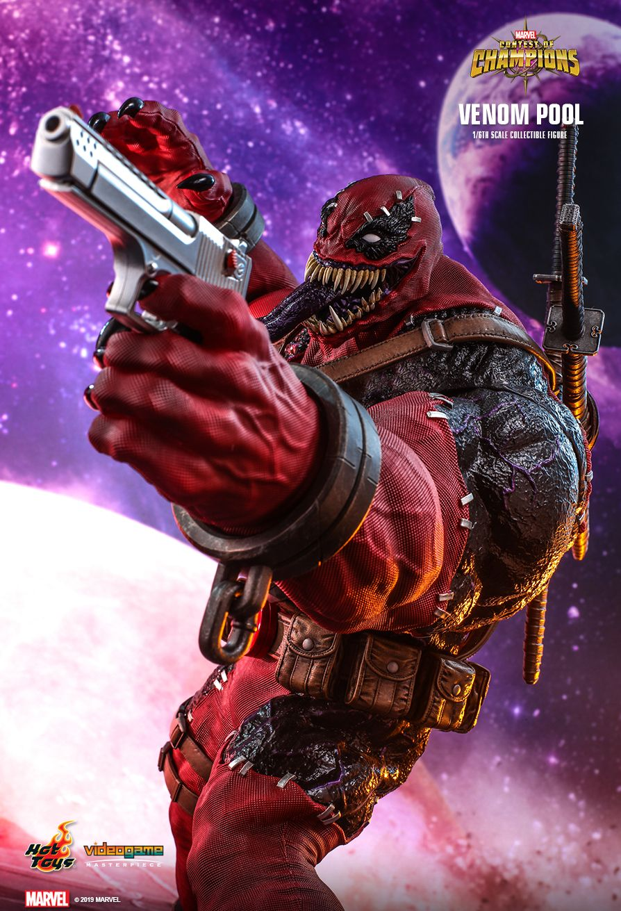 NEW PRODUCT: HOT TOYS: MARVEL CONTEST OF CHAMPIONS VENOMPOOL 1/6TH SCALE COLLECTIBLE FIGURE 7226