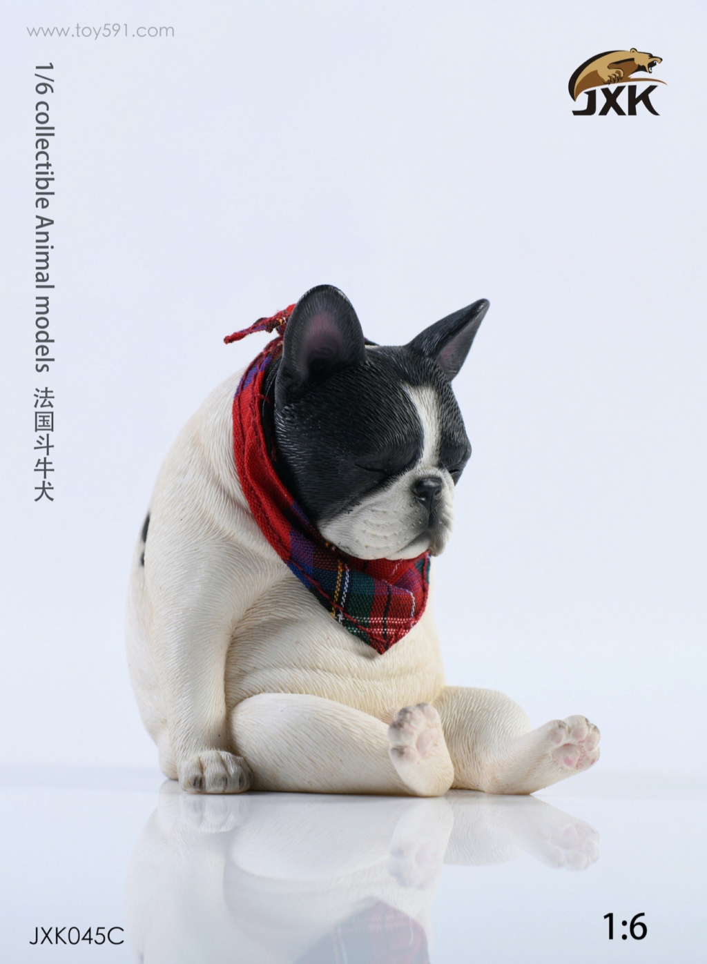 Dog - NEW PRODUCT: JXK 1/6 Decadent Dog JXK045 French Bulldog + Scarf 727aa310