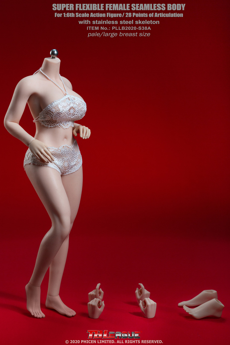"body - NEW PRODUCT: TBLeague: 1/6 scale ""Chubby"" Female Body (2 styles, with or without a head sculpt) 7295"