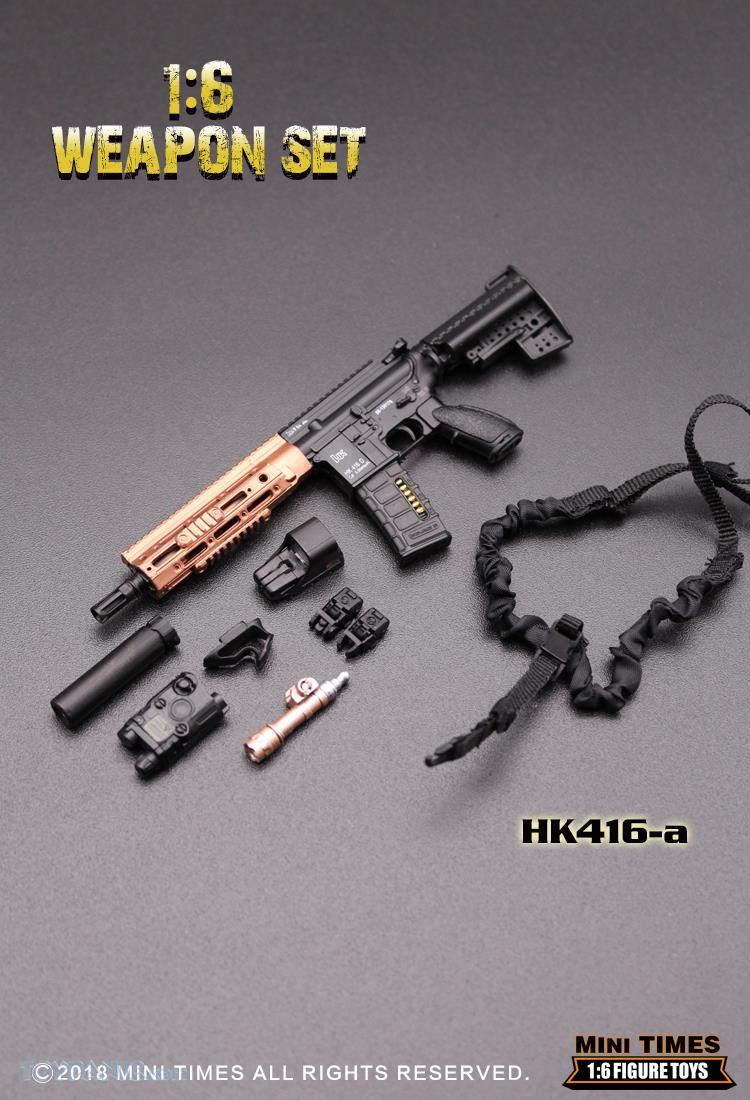 minitimes - NEW PRODUCT: MINI TIMES TOYS: 1/6 scale MR & HK416 weapons sets 73120115