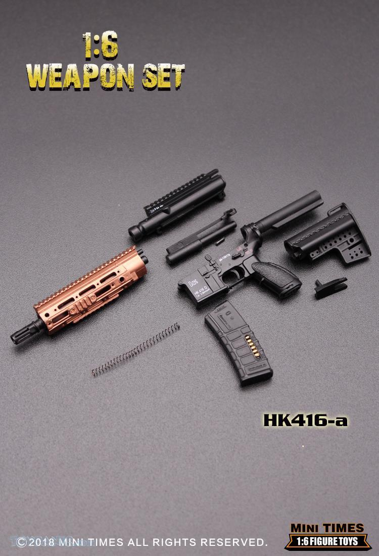 minitimes - NEW PRODUCT: MINI TIMES TOYS: 1/6 scale MR & HK416 weapons sets 73120116