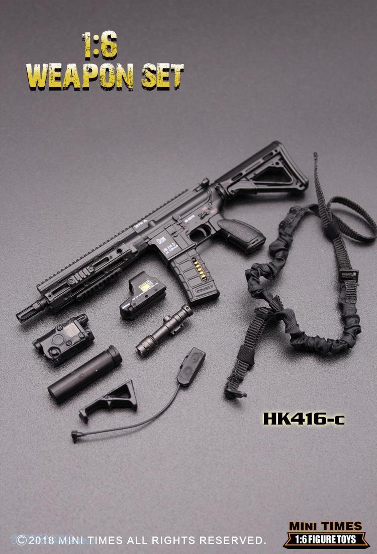 minitimes - NEW PRODUCT: MINI TIMES TOYS: 1/6 scale MR & HK416 weapons sets 73120121