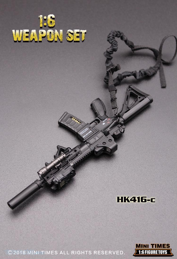 minitimes - NEW PRODUCT: MINI TIMES TOYS: 1/6 scale MR & HK416 weapons sets 73120123