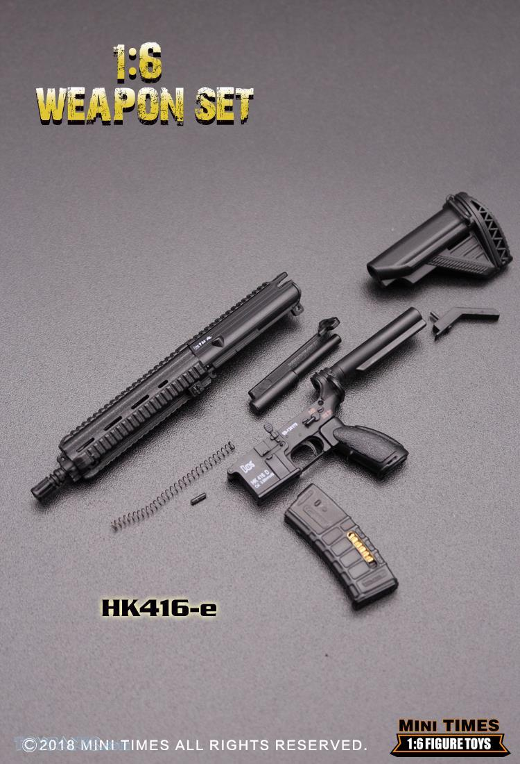 minitimes - NEW PRODUCT: MINI TIMES TOYS: 1/6 scale MR & HK416 weapons sets 73120128