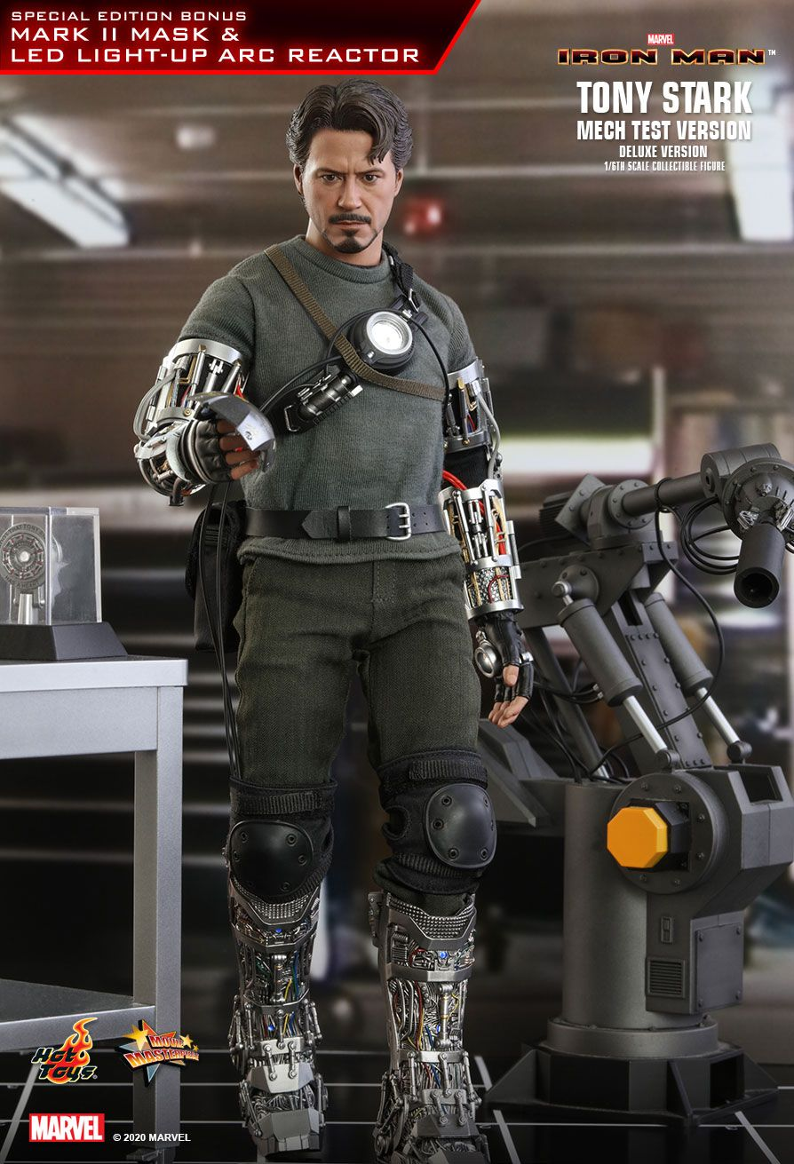 movie - NEW PRODUCT: HOT TOYS: IRON MAN TONY STARK (MECH TEST VERSION) (DELUXE VERSION) 1/6TH SCALE COLLECTIBLE FIGURE 7336