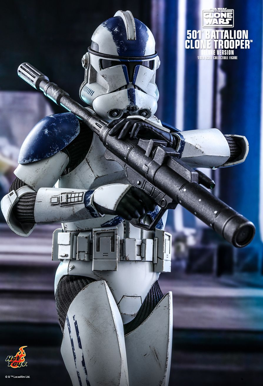 hottoys - NEW PRODUCT: HOT TOYS: STAR WARS: THE CLONE WARS™ 501ST BATTALION CLONE TROOPER™ (DELUXE VERSION) 1/6TH SCALE COLLECTIBLE FIGURE 7347