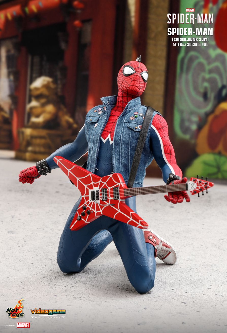 Spider-Punk - NEW PRODUCT: Hot Toys: MARVEL'S SPIDER-MAN SPIDER-MAN (SPIDER-PUNK SUIT) 1/6TH SCALE COLLECTIBLE FIGURE 736