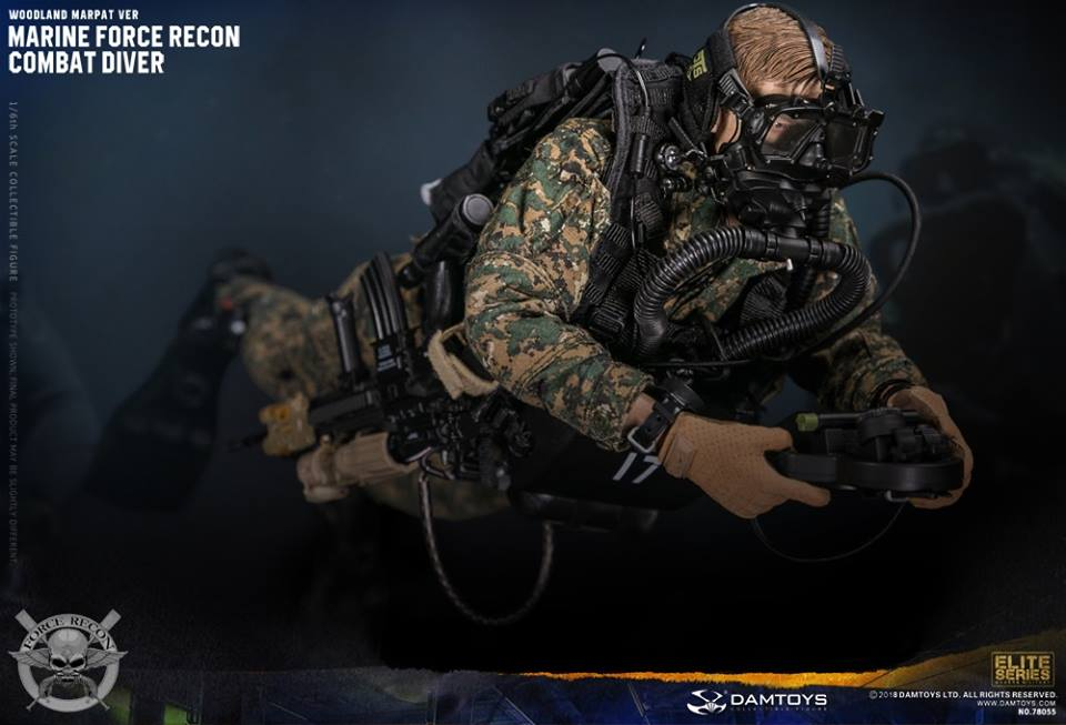 DamToys - NEW PRODUCT: DAM Toys: Marine Force Recon Combat Diver (Desert MARPAT) (GIDAM-78056) & (Woodland MARPAT) (GIDAM-78055) 749