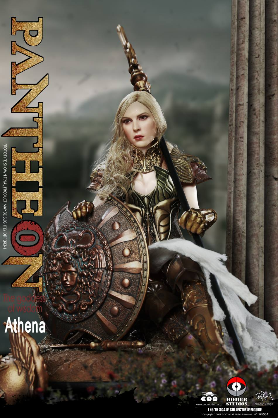 "NEW PRODUCT: COO MODEL X HOMER 1/6th scale PANTHEON Athena Goddess of War 12"" Collectible Figure 765"