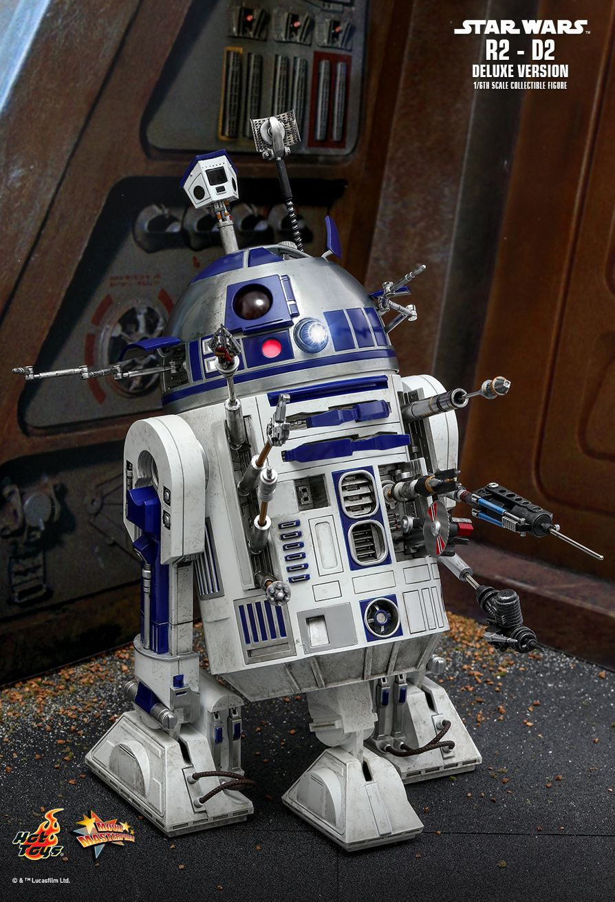 NEW PRODUCT: HOT TOYS: STAR WARS R2-D2 DELUXE VERSION 1/6TH SCALE COLLECTIBLE FIGURE 789