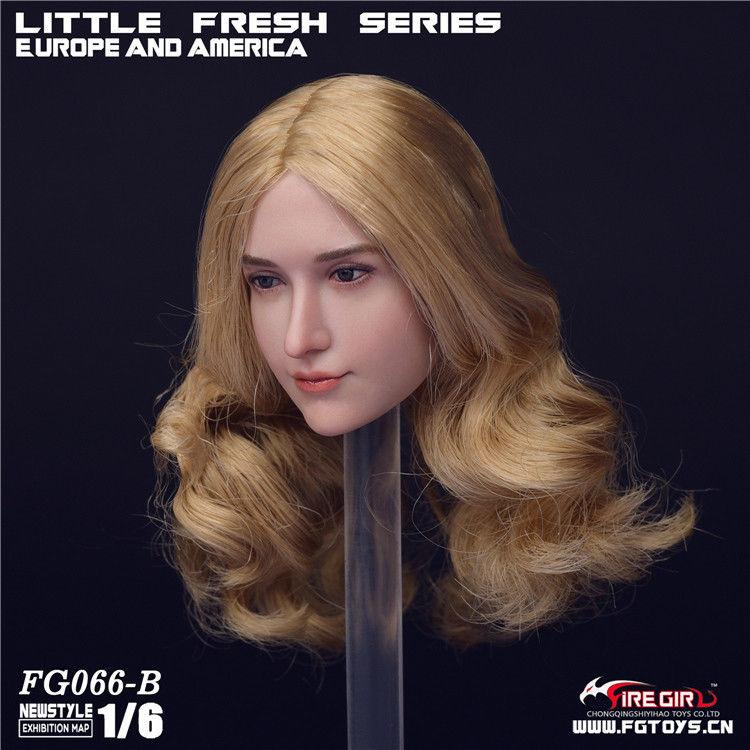 NEW PRODUCT: 1/6 Scale Fire Girl Toys FG066 Sweetheart Female Head Sculpt H#pale (3 versions) 794