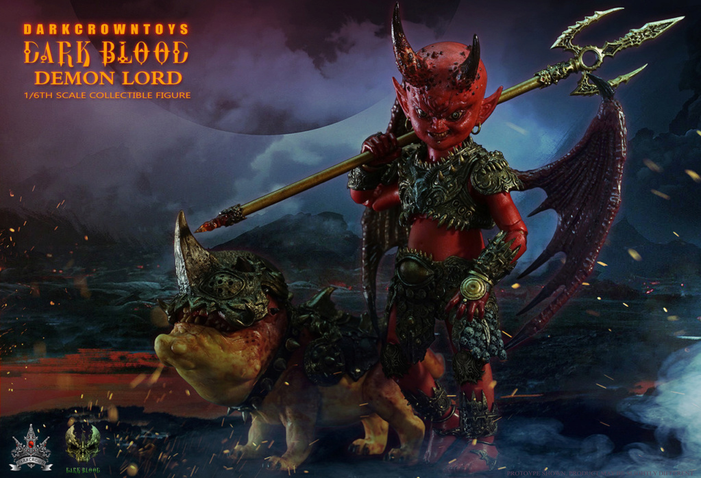 "horror - NEW PRODUCT: DARK CROWN TOYS ""DARK BLOOD"" CHAPTER IV: DEMON LORD - UNTERMINATABLE CONTRACT! 1/6 SCALE ACTION FIGURE SET 797"
