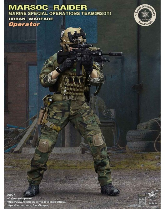 NEW PRODUCT: Easy & Simple 26027 1/6 Scale MARSOC Raider Urban Warfare Operator 8-528x10
