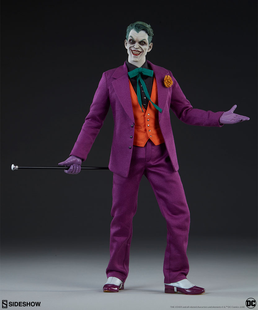 batman - NEW PRODUCT: SIDESHOW COLLECTIBLES: The Joker Sixth Scale Figure (Exclusive Laughing Head Sculpt) 8100
