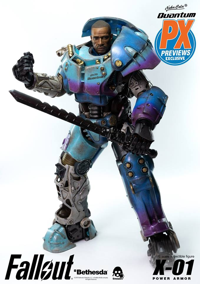 "Fallout - NEW PRODUCT: Three Zero Exclusive 1/6th scale X-01 ""Quantum"" Power Armor 14.5-inch Figure Set 8112"