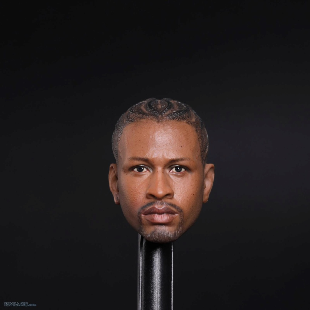 basketball - NEW PRODUCT: Advance Toys: 1/6 Iverson Headsculpt Open Mouth (AD-033A) & Normal Iverson Headsculpt (AD-033B) 818