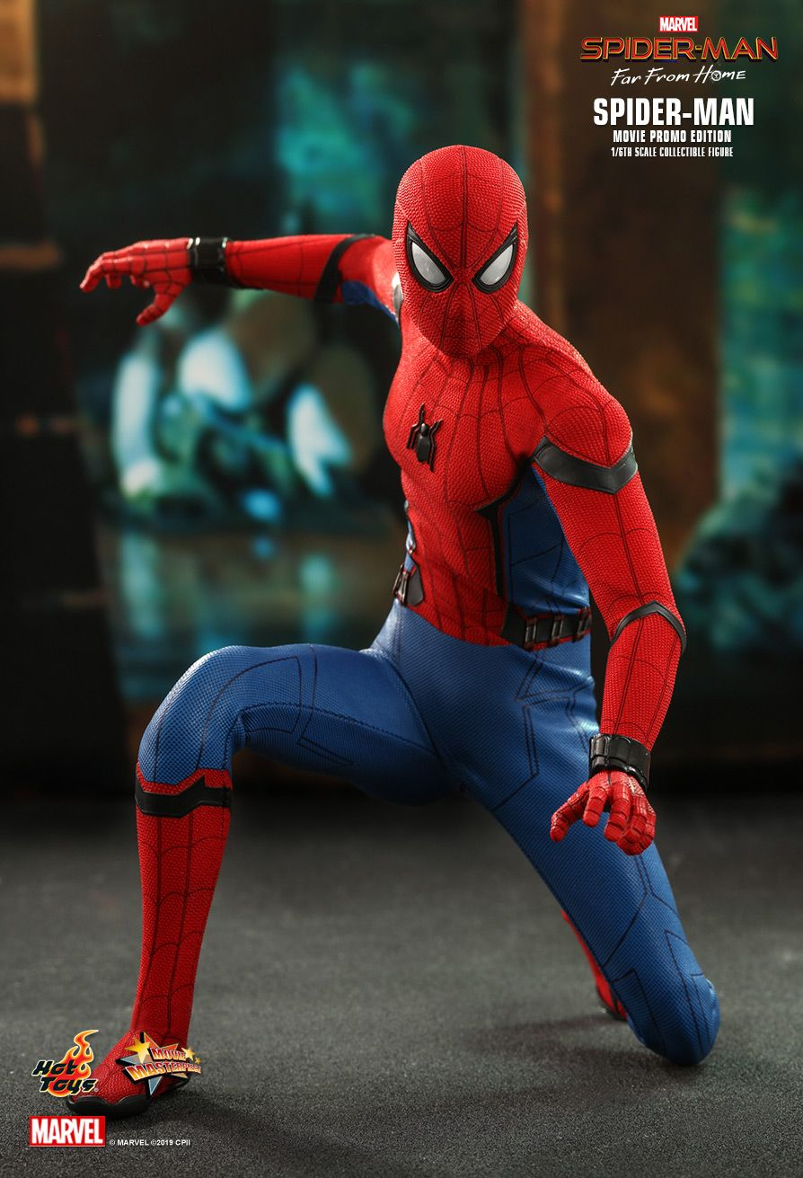 NEW PRODUCT: HOT TOYS: SPIDER-MAN: FAR FROM HOME SPIDER-MAN (MOVIE PROMO EDITION) 1/6TH SCALE COLLECTIBLE FIGURE 8185