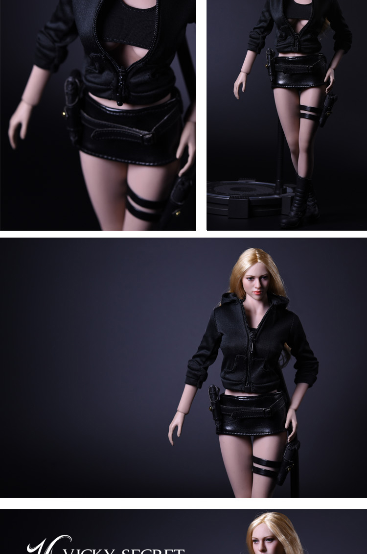 NEW PRODUCT: 1/6 Female Assassin Clothing Set by VS Toys (2 styles) 8198