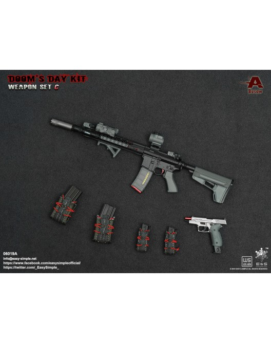 NEW PRODUCT: Easy&Simple: 06018 1/6 Scale PMC Weapon Set in 3 Styles & 06019 1/6 Scale Doom's Day Weapon Set in 3 Styles 8203