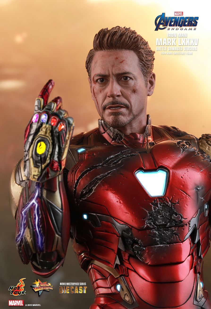 marvel - NEW PRODUCT: HOT TOYS: AVENGERS: ENDGAME IRON MAN MARK LXXXV (BATTLE DAMAGED VERSION) 1/6TH SCALE COLLECTIBLE FIGURE 8209