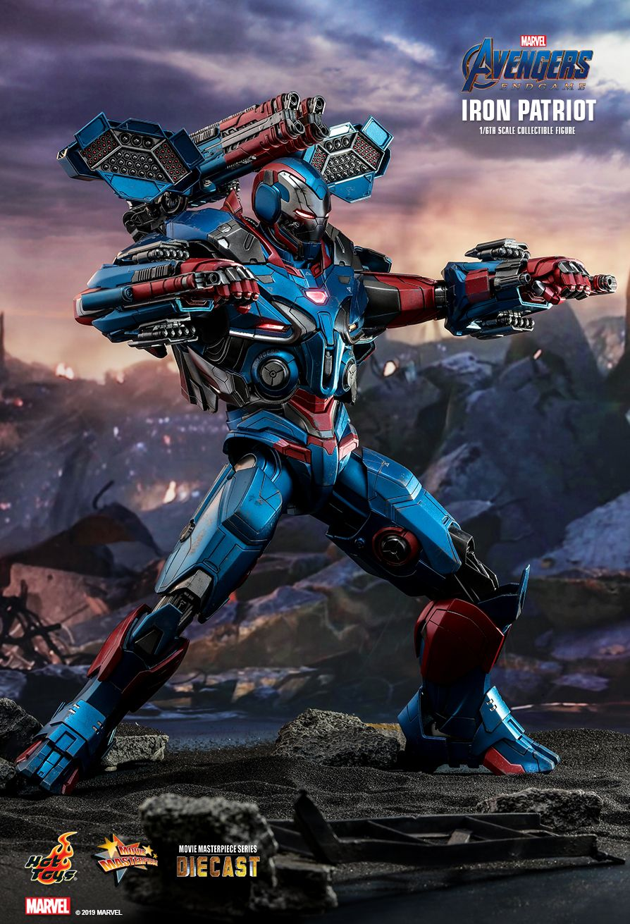 Endgame - NEW PRODUCT: HOT TOYS: AVENGERS: ENDGAME IRON PATRIOT 1/6TH SCALE COLLECTIBLE FIGURE 8211