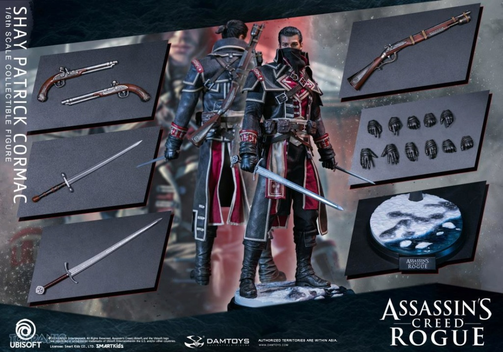 male - NEW PRODUCT: DAMTOYS: Assassins Creed Rogue - 1/6th scale Shay Patrick Cormac Collectible Figure 82220131