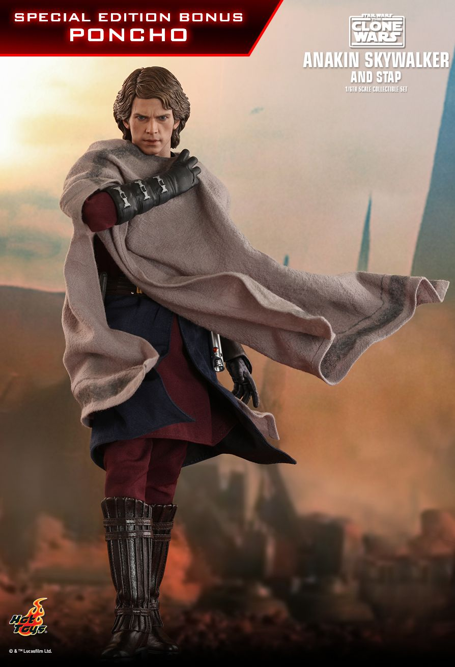 Sci-Fi - NEW PRODUCT: HOT TOYS: STAR WARS: THE CLONE WARS ANAKIN SKYWALKER AND STAP 1/6TH SCALE COLLECTIBLE SET 8316
