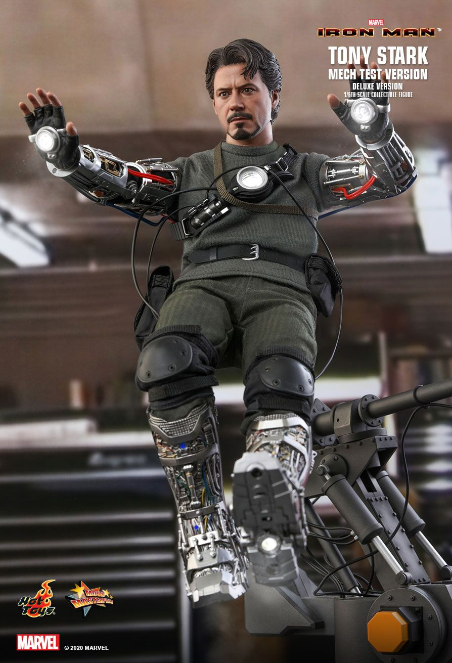 movie - NEW PRODUCT: HOT TOYS: IRON MAN TONY STARK (MECH TEST VERSION) (DELUXE VERSION) 1/6TH SCALE COLLECTIBLE FIGURE 8319